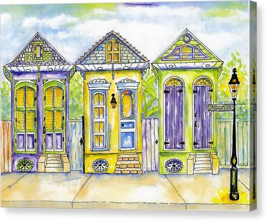 Shotgun Houses Canvas Print by Catherine Wilson