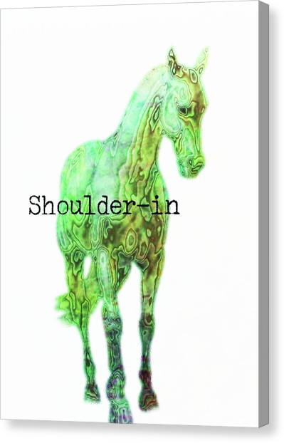 Shoulder-in Watercolor Quote Canvas Print by JAMART Photography