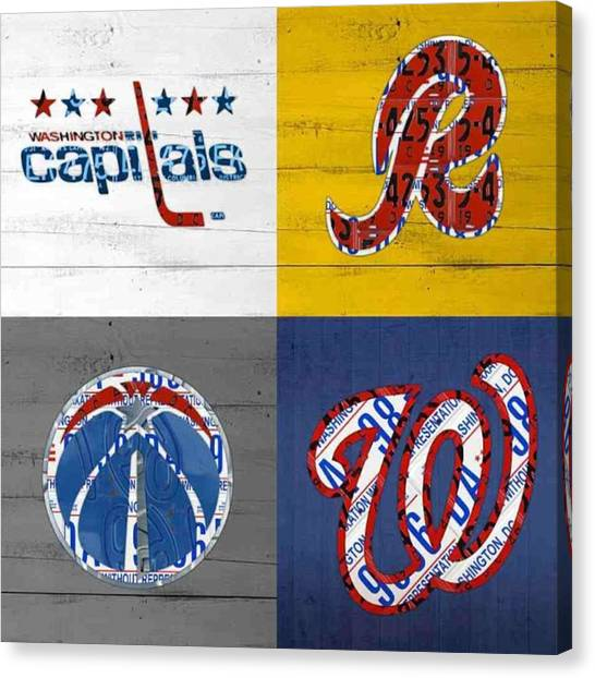 Sports Canvas Print - Shout To #washingtondc #capitals by Design Turnpike