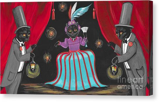 Tap Dance Canvas Print - Show Cats by Margaryta Yermolayeva