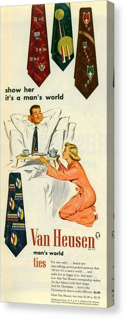 Show Her It's A Man's World Canvas Print
