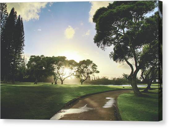 Golf Course Canvas Print - Show Me The Way by Laurie Search