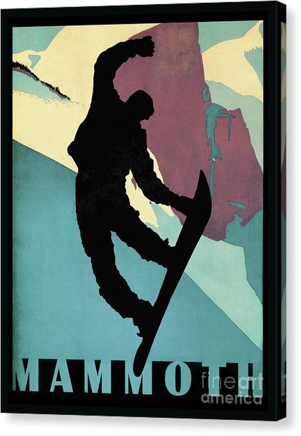 Freeriding Canvas Print - Showboarding Dude At Mammoth, Winter Sports by Tina Lavoie