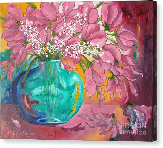 Shower Of Pink Canvas Print
