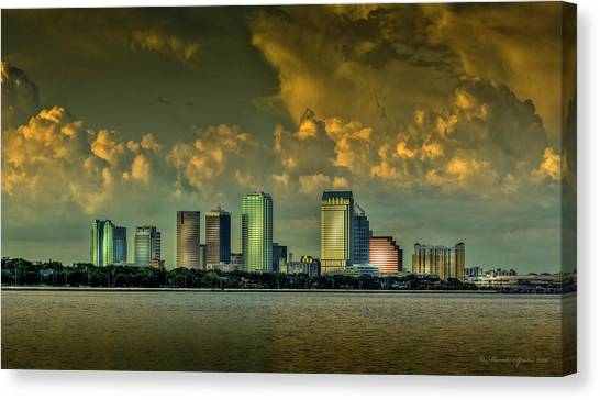 Tampa Bay Lightning Canvas Print - Showers Tonight by Marvin Spates