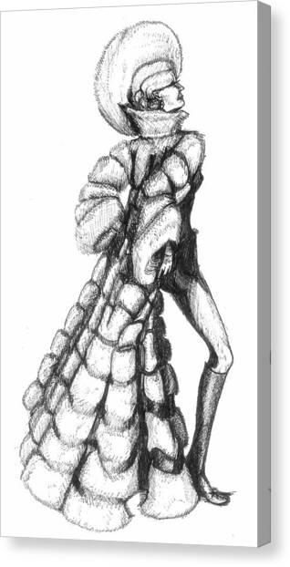Showgirl Canvas Print by Yvonne Ayoub