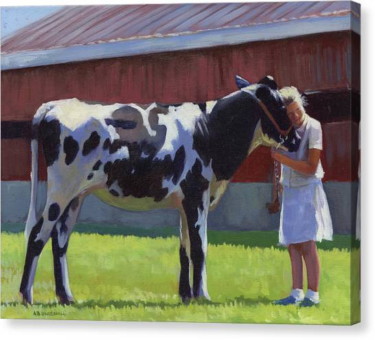 Cow Canvas Print - Showing The Heifer by Alecia Underhill