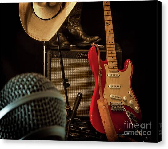 Microphones Canvas Print - Show's Over by Robert Frederick