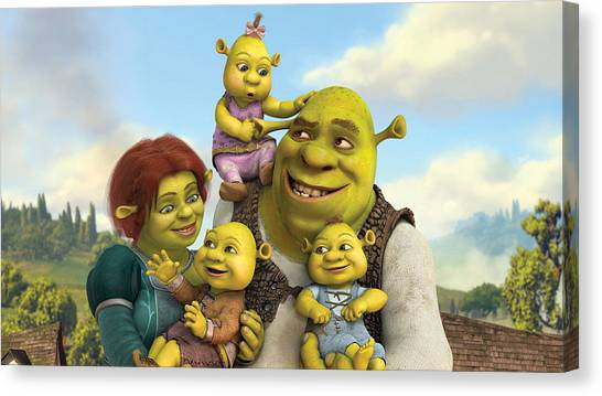 Teddy Bears Canvas Print - Shrek Forever After by Super Lovely