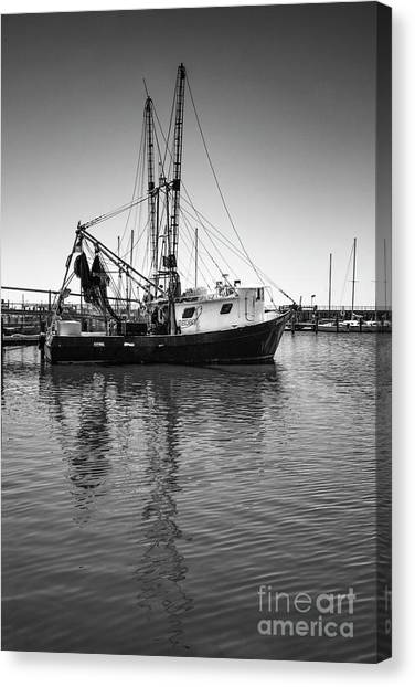 Canvas Print featuring the photograph Shrimp Boat by Ron Sadlier
