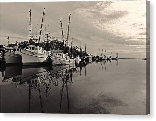 Shrimp Boats On The Altamaha Canvas Print