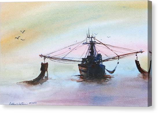 Shrimp Trawler Canvas Print