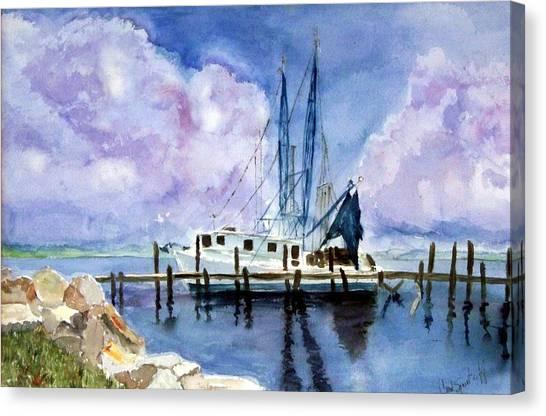 Shrimpboat Canvas Print by Carol Sprovtsoff