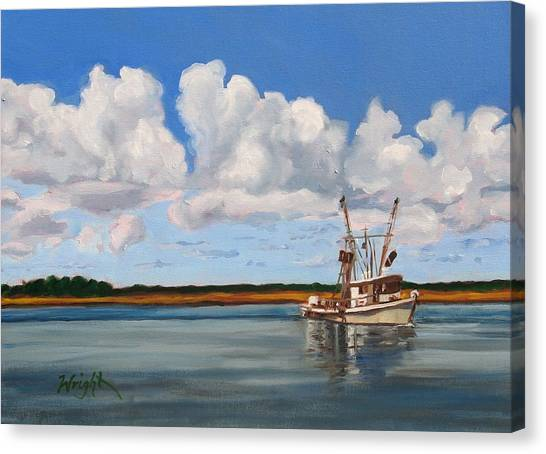 Shrimper Canvas Print by Molly Wright