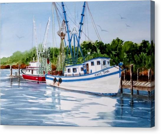 Shrimpers Canvas Print