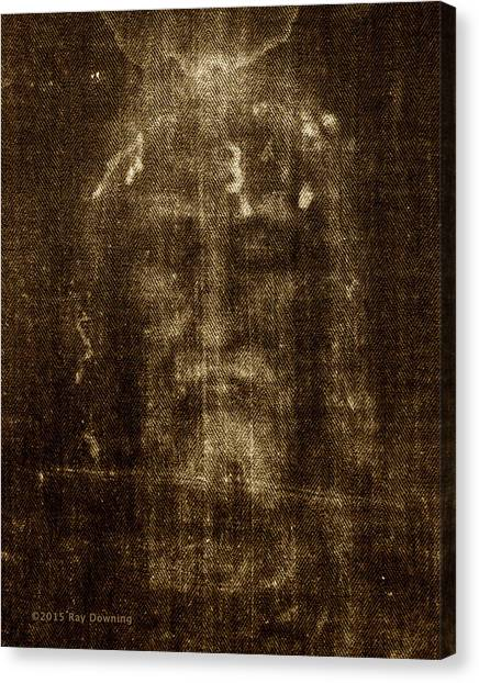 Shrouds Canvas Print - Shroud Of Turin by Ray Downing