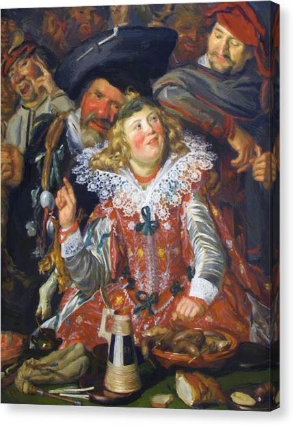 Shrovetide Revellers The Merry Company Canvas Print
