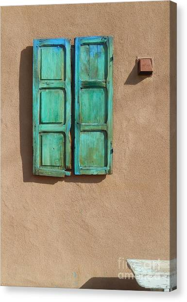 Shutter And Bench Canvas Print