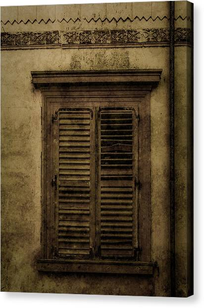 Canvas Print featuring the photograph Mon Repos, Corfu, Greece - Shuttered by Mark Forte