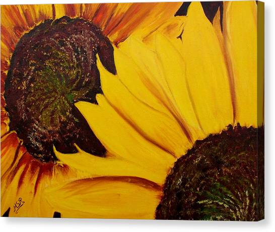Shy Sunflower  Canvas Print by Maria Soto Robbins