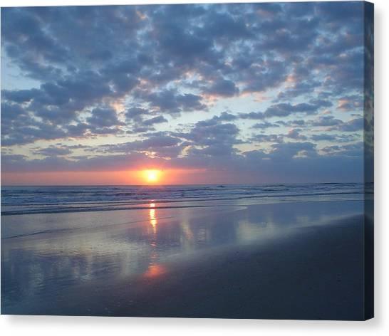 Shy Sunrise Canvas Print