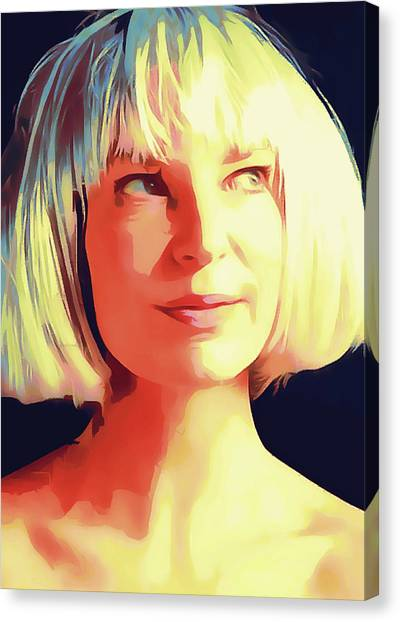 Indoors Canvas Print - Sia Portrait by Yury Malkov