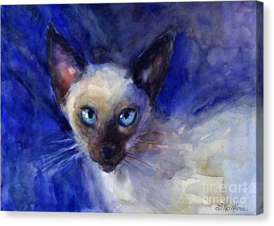 Siamese Canvas Print - Siamese Cat  by Svetlana Novikova