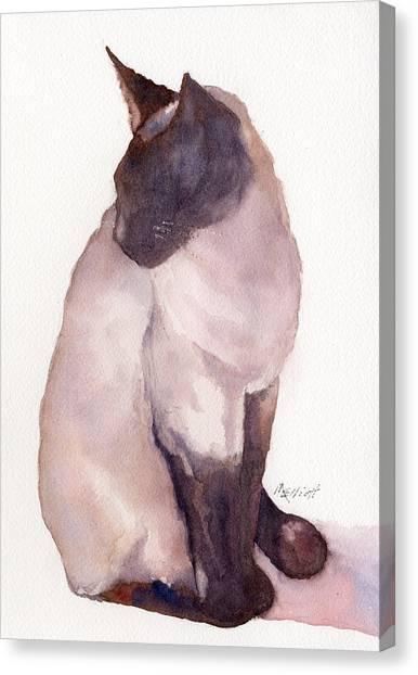 Siamese Canvas Print - Siamese by Marsha Elliott