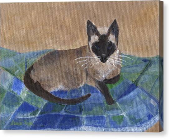Siamese Nap Canvas Print