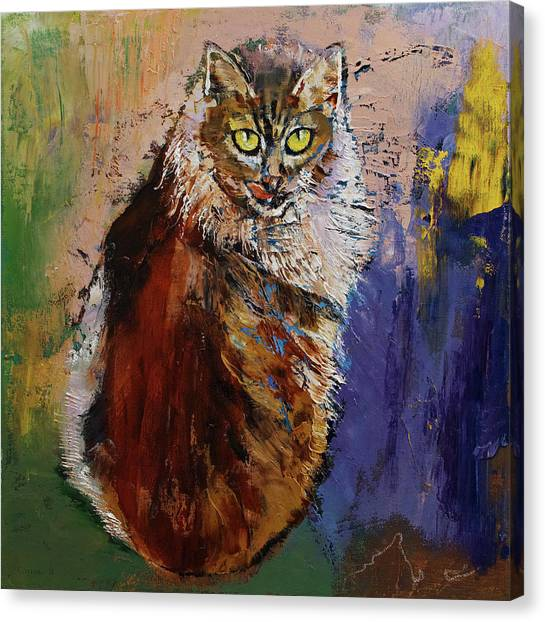 Siberian Canvas Print - Siberian Cat by Michael Creese