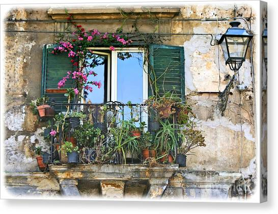 Sicilian Balcony Canvas Print