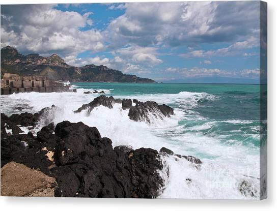Sicilian Stormy Sound Canvas Print