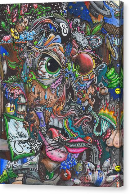 Sick Reality Canvas Print by Brian Schuster