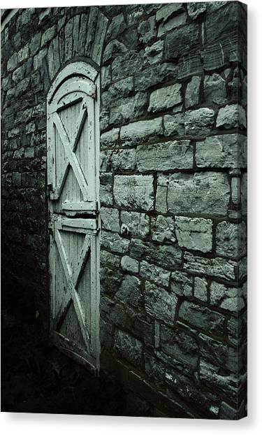 Timeworn Canvas Print - Side Door by Joseph Skompski