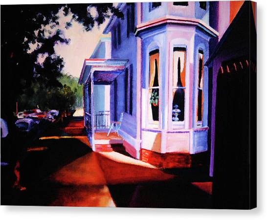 Canvas Print featuring the painting Side Street - Lambertville by Robert Henne