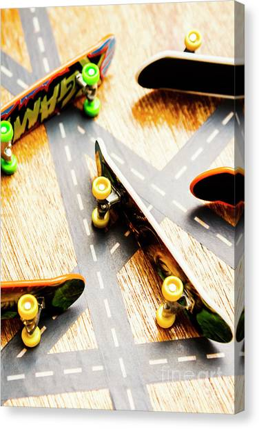 Skateboarding Canvas Print - Side Streets Of Skate by Jorgo Photography - Wall Art Gallery