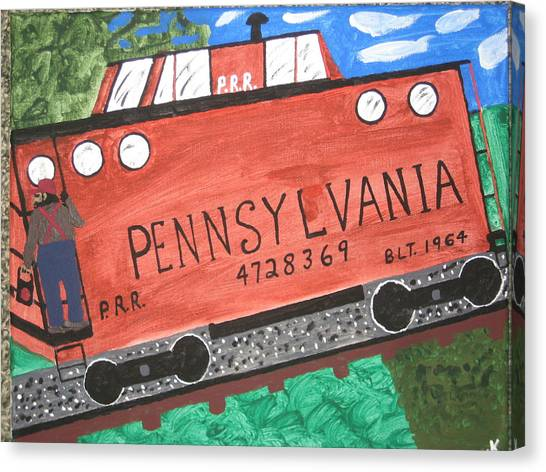 Side Tracked In Pa.  Canvas Print by Jeffrey Koss