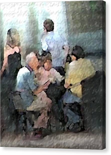 Sidewalk Cafe Canvas Print by Ken Barker
