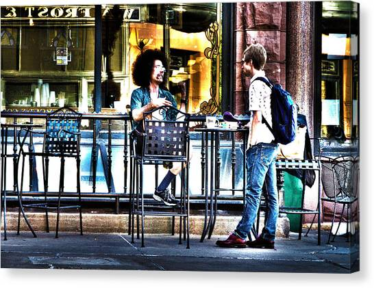 Sidewalk Cafe Patrons Canvas Print