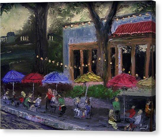 Sidewalk Cafe Canvas Print