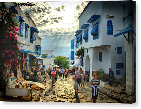 Sidi Bou Said Sunset Canvas Print by Aleksey Napolskih