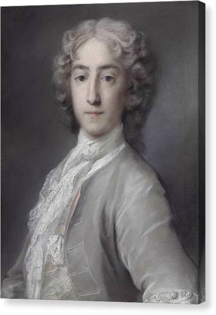 Rococo Art Canvas Print - Sidney Beauclerk  by Rosalba Carriera
