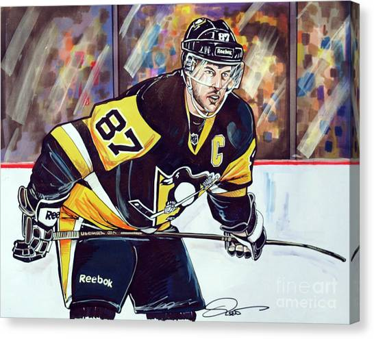 Pittsburgh Penguins Canvas Print - Sidney Crosby 2016 Nhl Stanley Cup  Playoffs by Dave Olsen