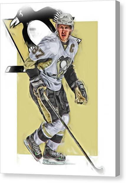 Pittsburgh Penguins Canvas Print - Sidney Crosby Pittsburgh Penguins Oil Art by Joe Hamilton