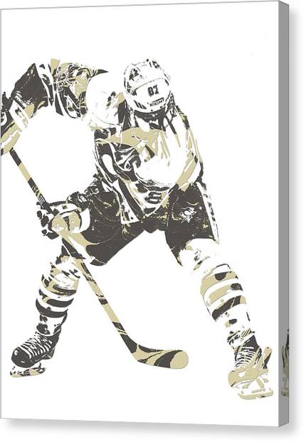 Pittsburgh Penguins Canvas Print - Sidney Crosby Pittsburgh Penguins Pixel Art 10 by Joe Hamilton