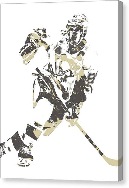 Pittsburgh Penguins Canvas Print - Sidney Crosby Pittsburgh Penguins Pixel Art 11 by Joe Hamilton