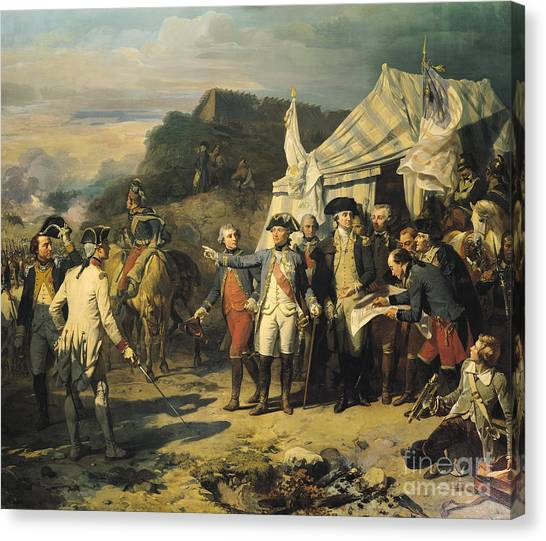 George Washington Canvas Print - Siege Of Yorktown by Louis Charles Auguste  Couder