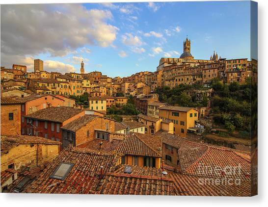 Siena Sunset Canvas Print