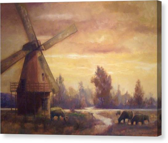 Sienna Mill Canvas Print by Ruth Stromswold