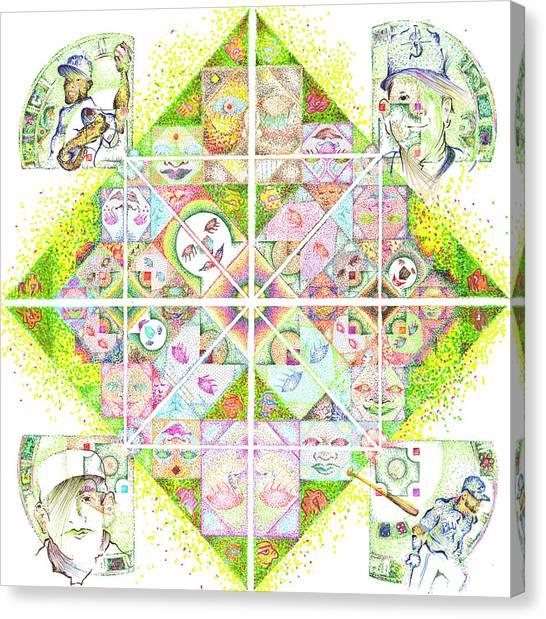 Sierpinski's Baseball Diamond Canvas Print